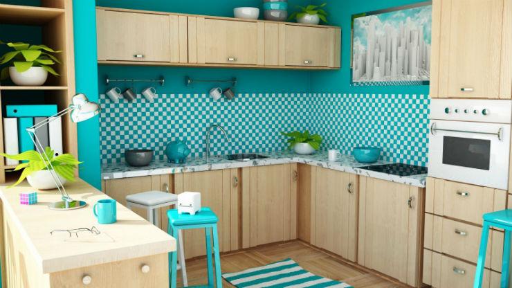 """""""Cozinha com papel de parede""""  15 ideias de decoração com papel de parede papel de parede de azulejos"""