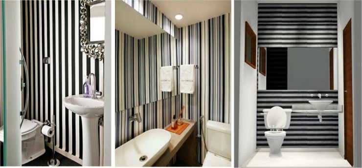 """""""Papel de parede no banheiro""""  15 ideias de decoração com papel de parede papeldeparedenobanheiro"""