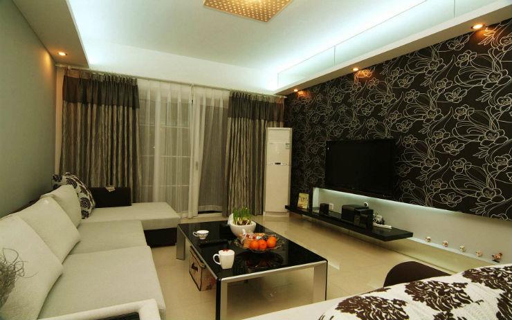 """""""Papel de parede na sala de estar""""  15 ideias de decoração com papel de parede papeldeparedesaladeestar"""