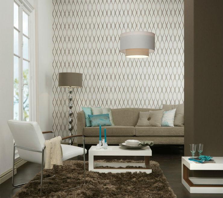 """""""Papel de parede na sala de estar""""  15 ideias de decoração com papel de parede papeldeparedesaladeestar1"""
