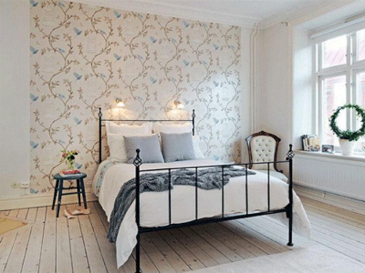 """""""Quarto com papel de parede""""  15 ideias de decoração com papel de parede quartocompapeldeparede"""