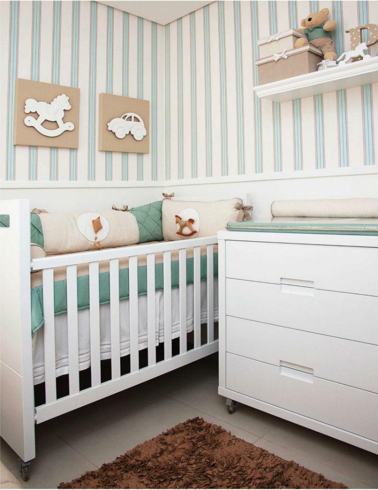"""""""quarto de bebe com papel de parede""""  15 ideias de decoração com papel de parede quartodebebecompapeldeparede"""