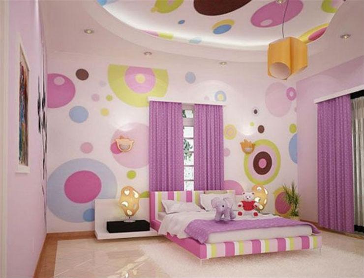"""""""Quarto de menina com papel de parede""""  15 ideias de decoração com papel de parede quartodemeninacompapeldeparede"""