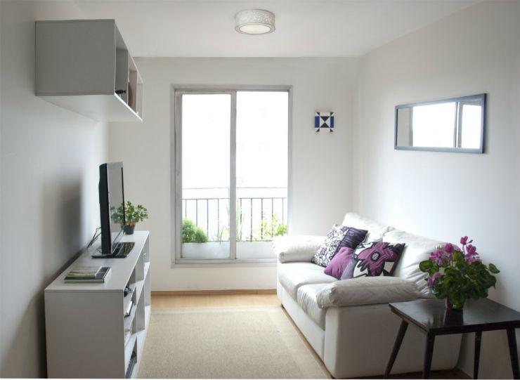 """""""Sala pequena e bem decorada""""  Decoração: 5 salas de estar pequenas mas acolhedoras salapequenadecoracao"""