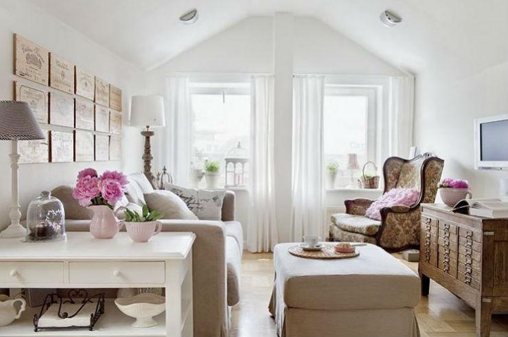 """""""Sala pequena e bem decorada""""  Decoração: 5 salas de estar pequenas mas acolhedoras salinha fofa1"""