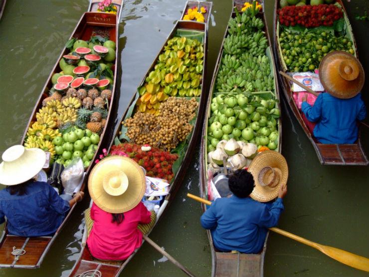 """""""Mercado Flutuante em Bangkok""""  Lifestyle: 10 dicas sobre a Tailândia MercadoFlutuante Bangkok"""