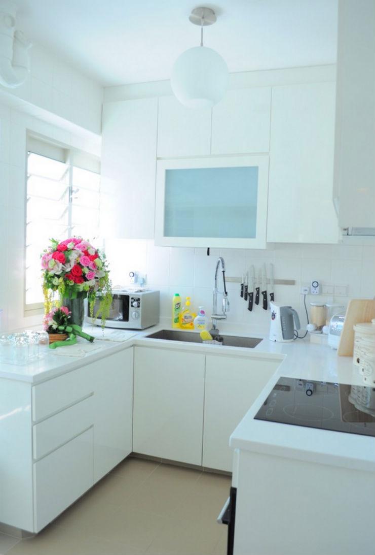 """""""Ideia de design para cozinha pequena""""  5 ideias de design para cozinhas pequenas cozinha pequena3"""