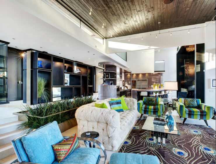 """sala de estar inspirada no Carnaval""  Top salas com decoração inspirada no Carnaval sala carnaval5"