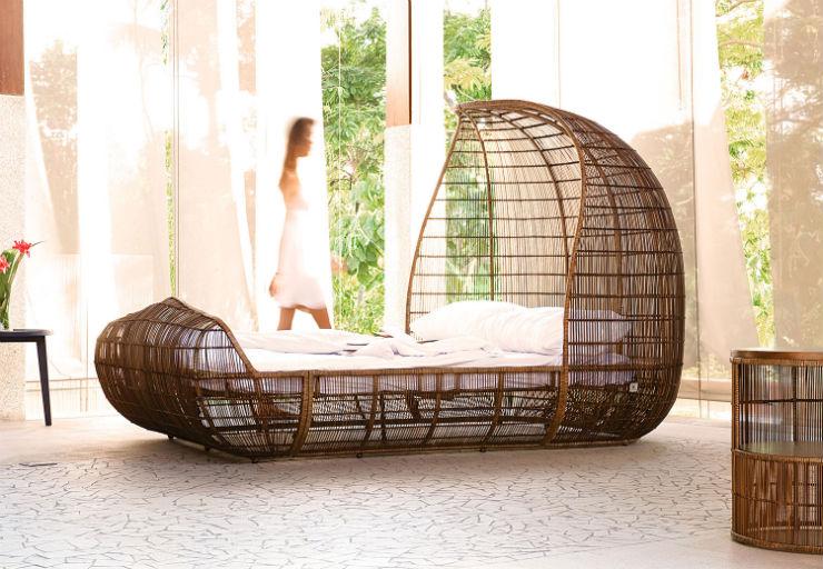 """""""Cama de Kenneth Cobonpue""""  Cingapura: o lado exótico do Design  Voyage Setting"""