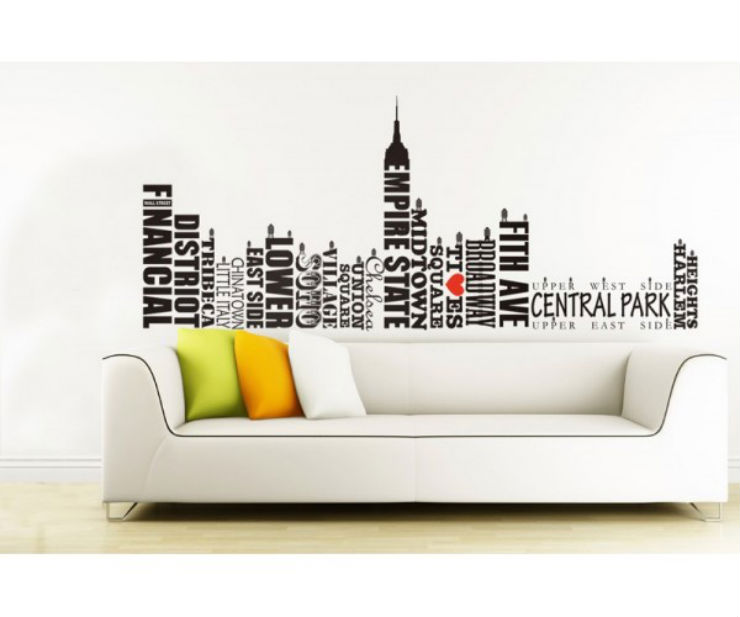 """""""Influência americana na decoração""""  Dicas de decoração com influência Americana nova york em parede"""