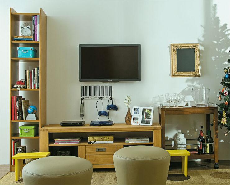 """""""Decoração de salas pequenas""""  Decoração: Como decorar uma sala pequena sala com puffs"""