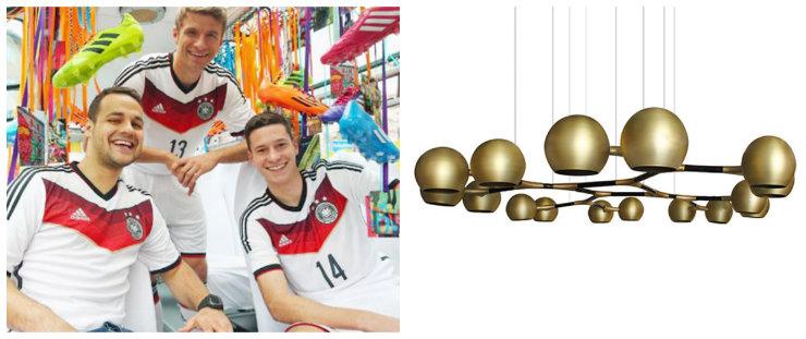 """""""Luminária Brabbu para o team de Alemanha""""  Copa do Mundo: uma luminária para cada equipe bbalm"""