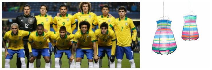 """""""Luminária Maurício Arruda para o Brasil""""  Copa do Mundo: uma luminária para cada equipe br mauricioarruda"""