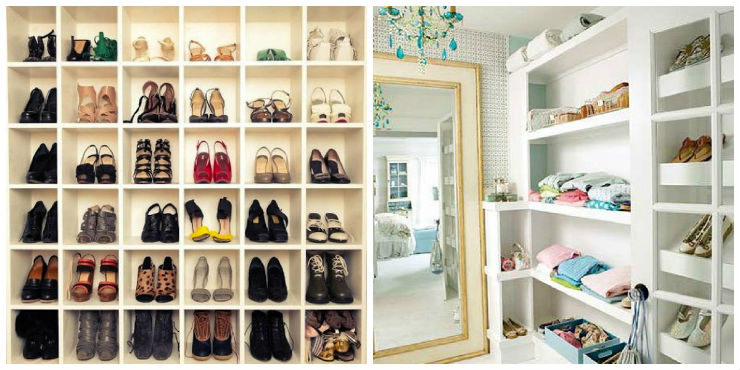 """""""como montar o seu closet""""  Como fazer um closet: tenha o guarda-roupa dos seus sonhos closet sapatos e prateleiras"""