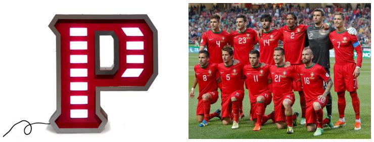 """""""Luminária Delightfull para o team de Portugal""""  Copa do Mundo: uma luminária para cada equipe dl PT"""