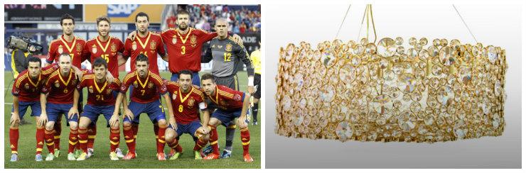 """""""Luminária KOKET para o team de Espanha""""  Copa do Mundo: uma luminária para cada equipe koketesp"""