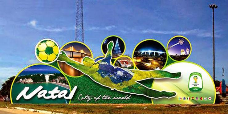 """""""Ruas do Brasil decoradas para a Copa""""  Decorações e Clima da Copa inundam ruas do Brasil mural copa"""