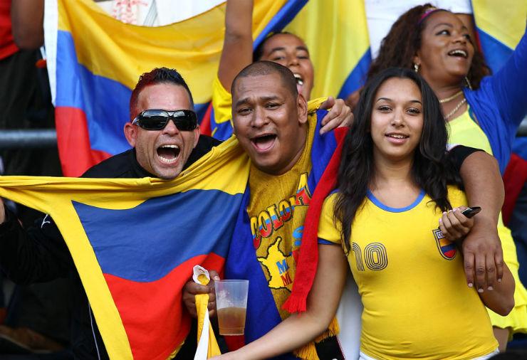 """""""Torcidas na Copa do Mundo 2014""""  As melhores torcidas da Copa do Mundo Colombia"""