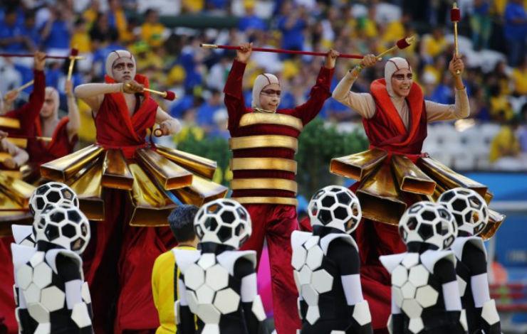"""""""Cerimónia de Abertura da Copa do Mundo 2014""""  Copa do Mundo: os melhores e piores momentos da abertura copa do mundo2014 1"""