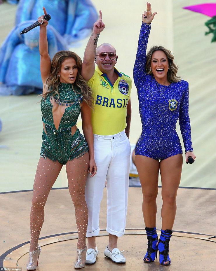 """""""Cerimónia de Abertura da Copa do Mundo 2014""""  Copa do Mundo: os melhores e piores momentos da abertura copa pitbull jennifer claudia"""