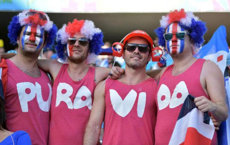 """""""Torcidas na Copa do Mundo 2014""""  As melhores torcidas da Copa do Mundo costarica"""