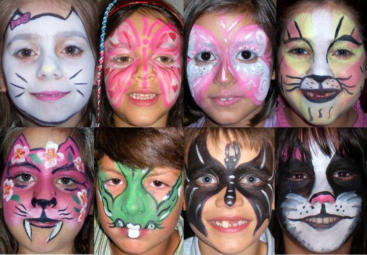 """""""Organização e Decoração de festa infantil""""  Decoração de festa infantil: as dicas que não pode perder pinturas faciais1"""