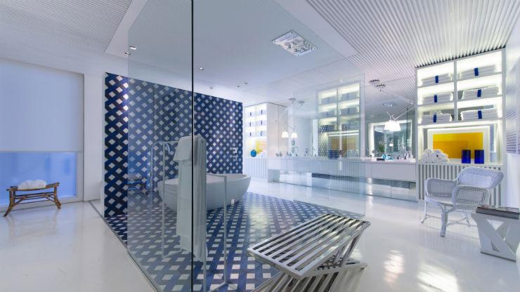 """""""Banheiro em azul""""  Decoração: Os mais bonitos banheiros em azul banheiro em azul1"""
