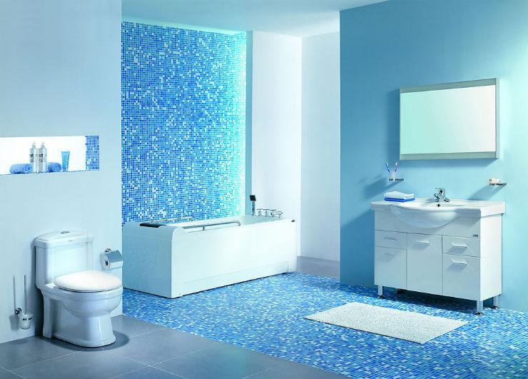 """""""Banheiro em azul""""  Decoração: Os mais bonitos banheiros em azul banheiro em azul3"""