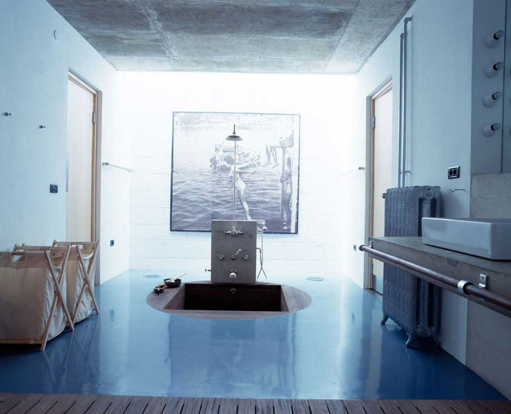 """""""Banheiro em azul""""  Decoração: Os mais bonitos banheiros em azul banheiro em azul6"""