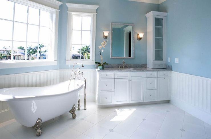 """""""Banheiro em azul""""  Decoração: Os mais bonitos banheiros em azul banheiro em azul7"""