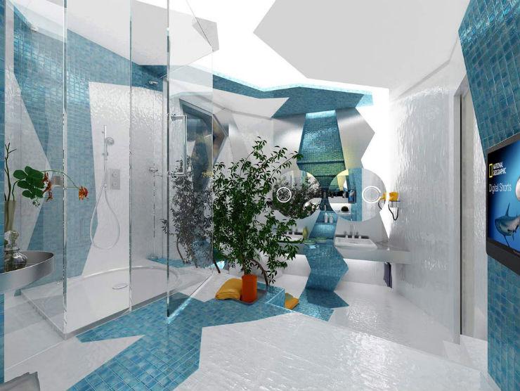 """""""Banheiro em azul""""  Decoração: Os mais bonitos banheiros em azul banheiro em azul8"""