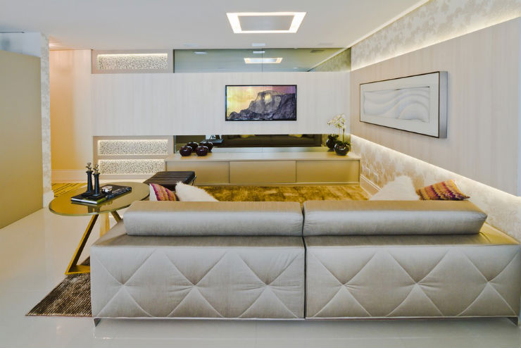 """""""Decoração moderna para apartamento de férias""""  Decoração moderna e funcional para apartamento de férias cobertura moderna1"""
