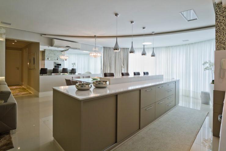 """""""Decoração moderna para apartamento de férias""""  Decoração moderna e funcional para apartamento de férias cobertura moderna2"""
