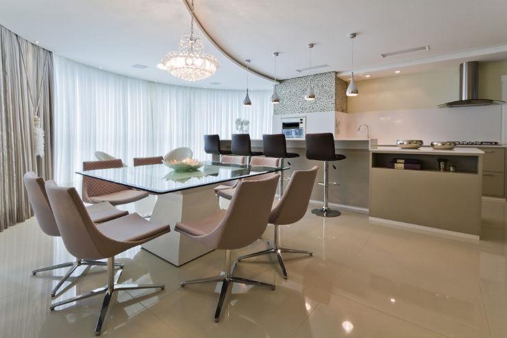 """""""Decoração moderna para apartamento de férias""""  Decoração moderna e funcional para apartamento de férias cobertura moderna4"""