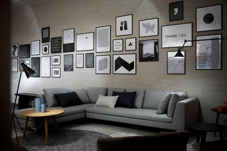 """""""Sala de estar em tons de cinza""""  Decoração: Salas de estar em tons cinza decoracao casa cinza3"""
