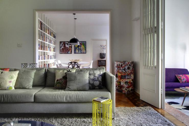 """""""Sala de estar em tons de cinza""""  Decoração: Salas de estar em tons cinza decoracao casa cinza4"""