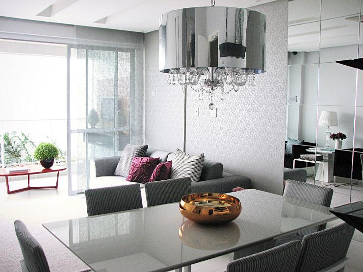 """""""Sala de estar em tons de cinza""""  Decoração: Salas de estar em tons cinza decoracao casa cinza5"""