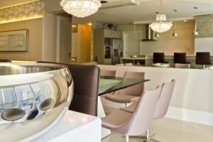 Decoração moderna e funcional para apartamento de férias