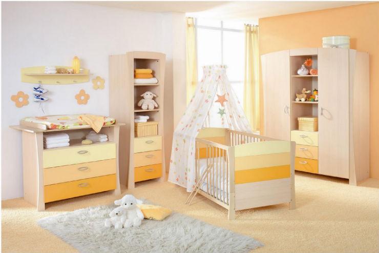 """""""Como decorar o quarto de um bebé""""  Como decorar o quarto de bebé quarto bebe amarelo"""