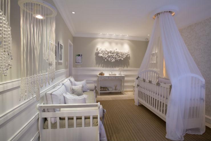"""""""Como decorar o quarto de um bebé""""  Como decorar o quarto de bebé quarto bebe branco"""