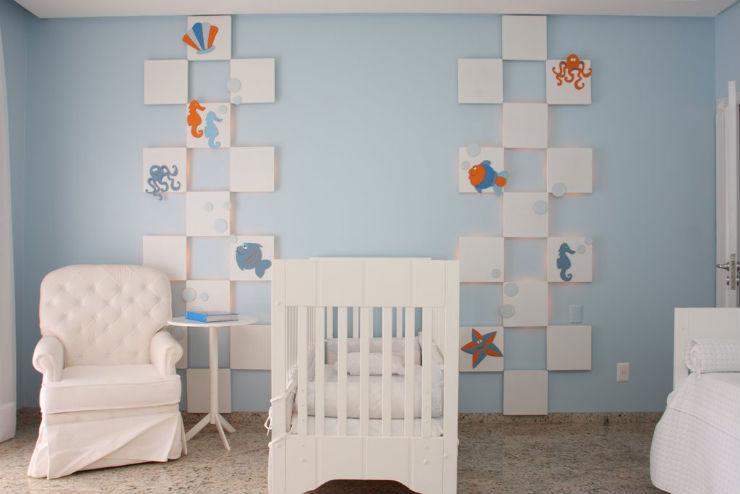 """""""Como decorar o quarto de bebé""""  Como decorar o quarto de bebé quarto de bebe azul"""