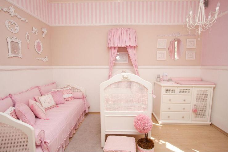 """""""Como decorar o quarto de um bebé""""  Como decorar o quarto de bebé quarto de bebe rosa"""
