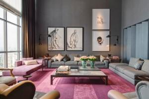 Decoração: Salas de estar em tons cinza