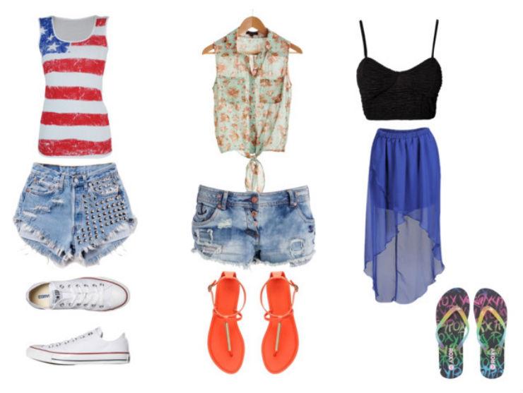"""""""o que vestir num luau""""  Moda: 5 estilos para ir a um luau luau look1"""