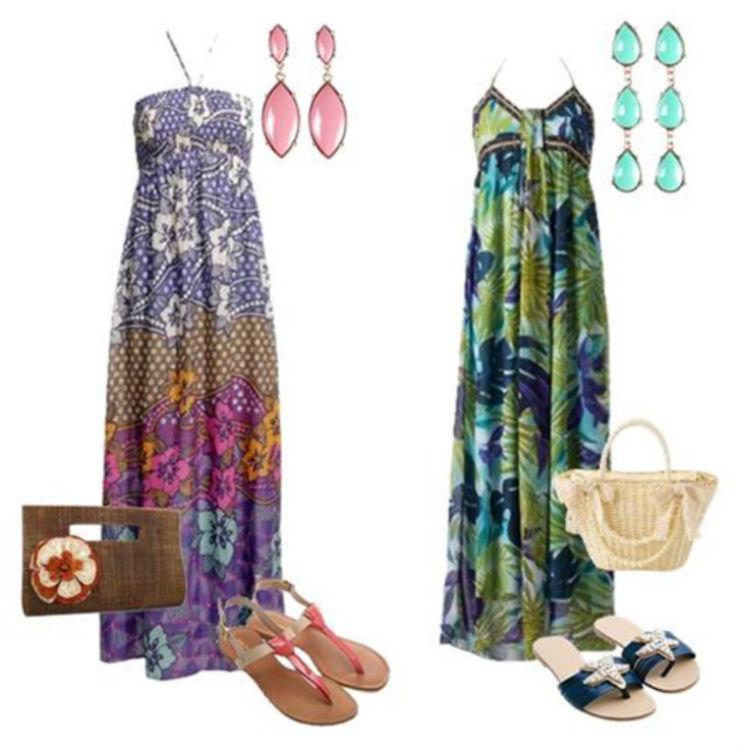 """""""o que vestir num luau""""  Moda: 5 estilos para ir a um luau luau vestido comprido"""