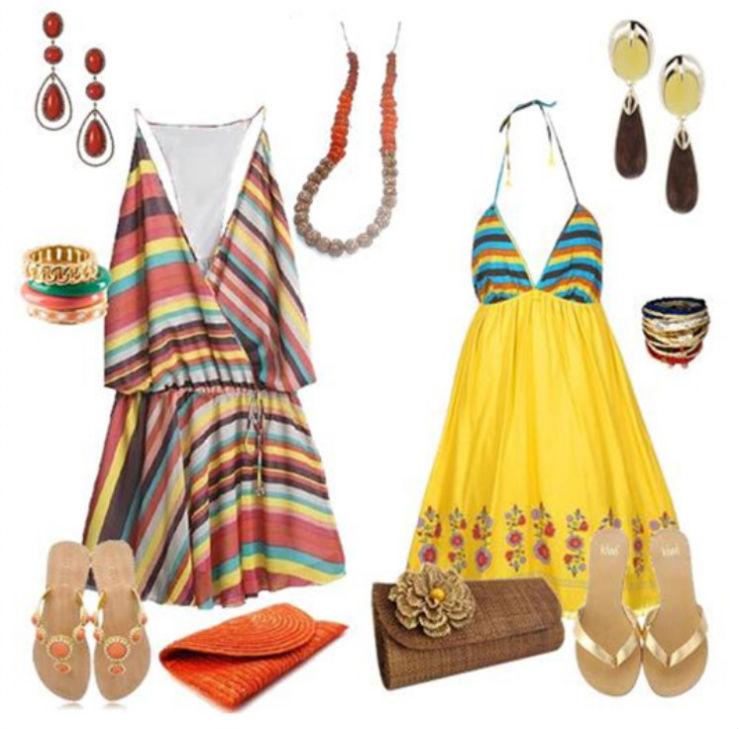 """""""o que vestir num luau""""  Moda: 5 estilos para ir a um luau luau vestido curto"""