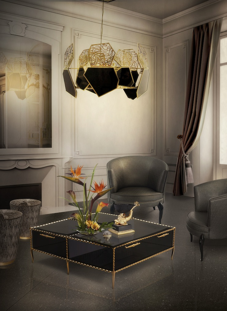 10-dicas-do-decoracao-pra-casa-luminarias-para-sala-que-valem-ouro-parte-2-ivy-coffee-table-hypnotic-chandelier-tresor-stool-delice-chair-koket-projects
