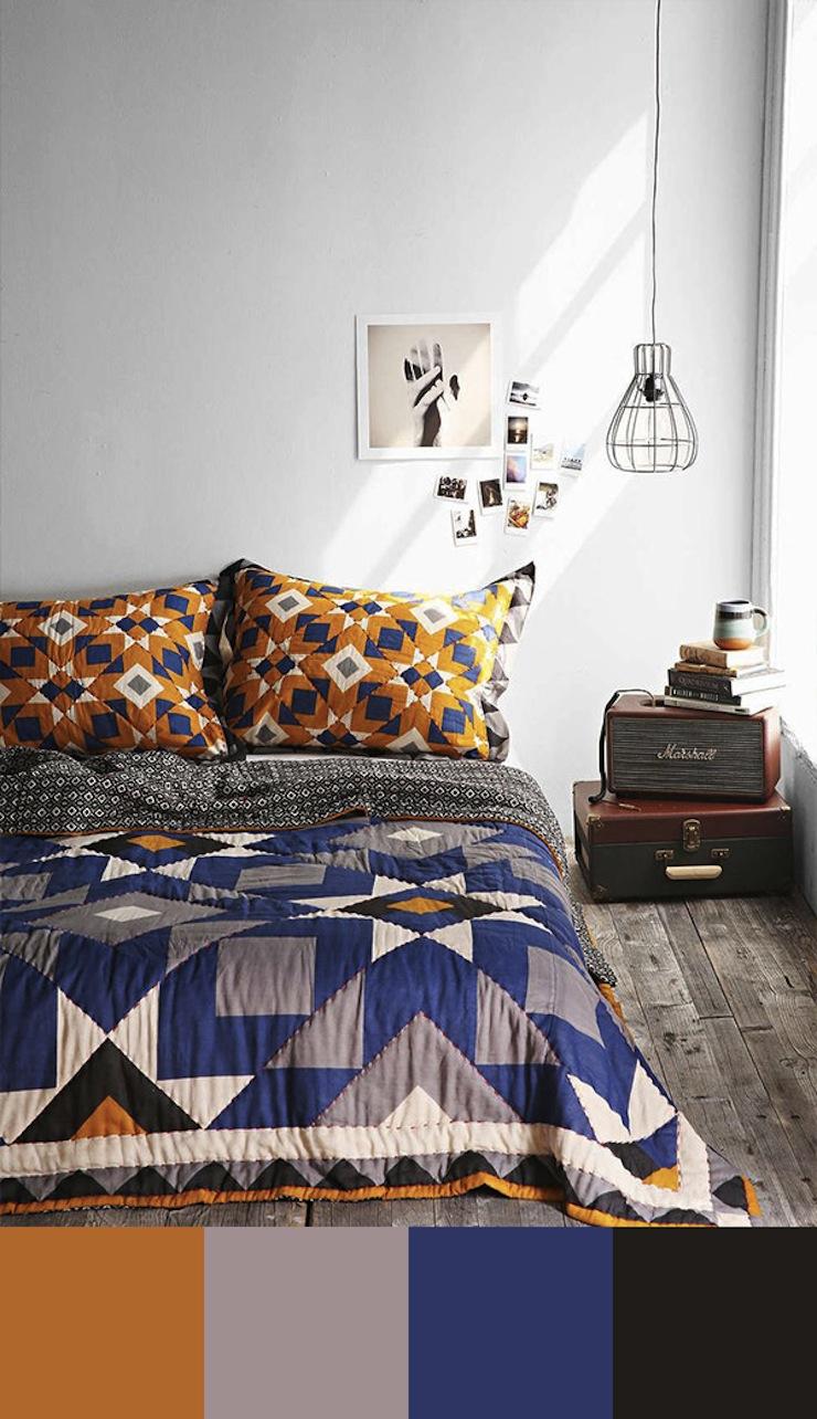 10-esquemas-de-cores-perfeitos-para-decorar-o-seu-quarto-8  Quarto de casal: 10 esquemas de cores perfeitos para decorar 10 esquemas de cores perfeitos para decorar o seu quarto 8