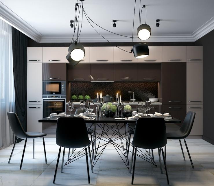 11-imperdivel-24-sugestoes-de-salas-de-jantar-modernas-black-leather-dining-chairs  IMPERDÍVEL! Confira estas 24 sugestões de Salas de Jantar modernas 11 imperdivel 24 sugestoes de salas de jantar modernas black leather dining chairs
