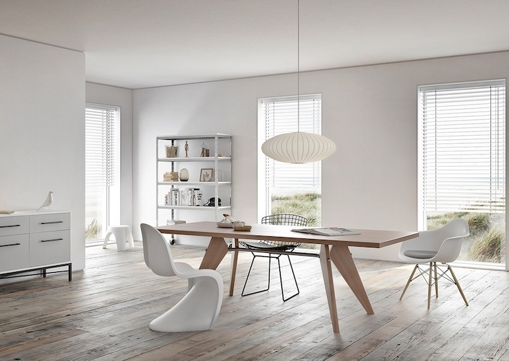 22-imperdivel-24-sugestoes-de-salas-de-jantar-modernas-molded-white-dining-chairs  IMPERDÍVEL! Confira estas 24 sugestões de Salas de Jantar modernas 22 imperdivel 24 sugestoes de salas de jantar modernas molded white dining chairs